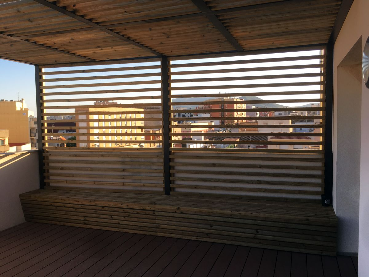 terraza exterior en ático, reforma integral, arquitectura, arquitectura interior