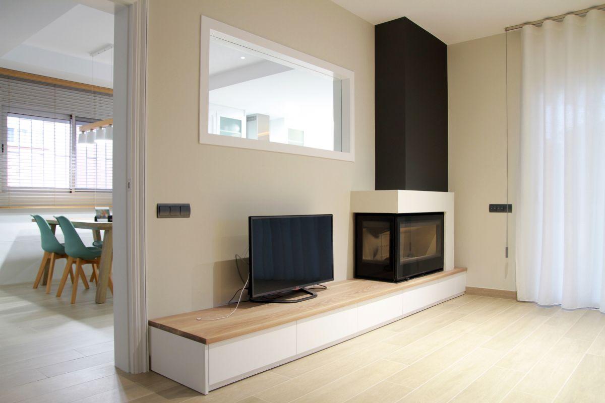 interiorisme, disseny d'interiors, menjador, llar de foc, chimenea