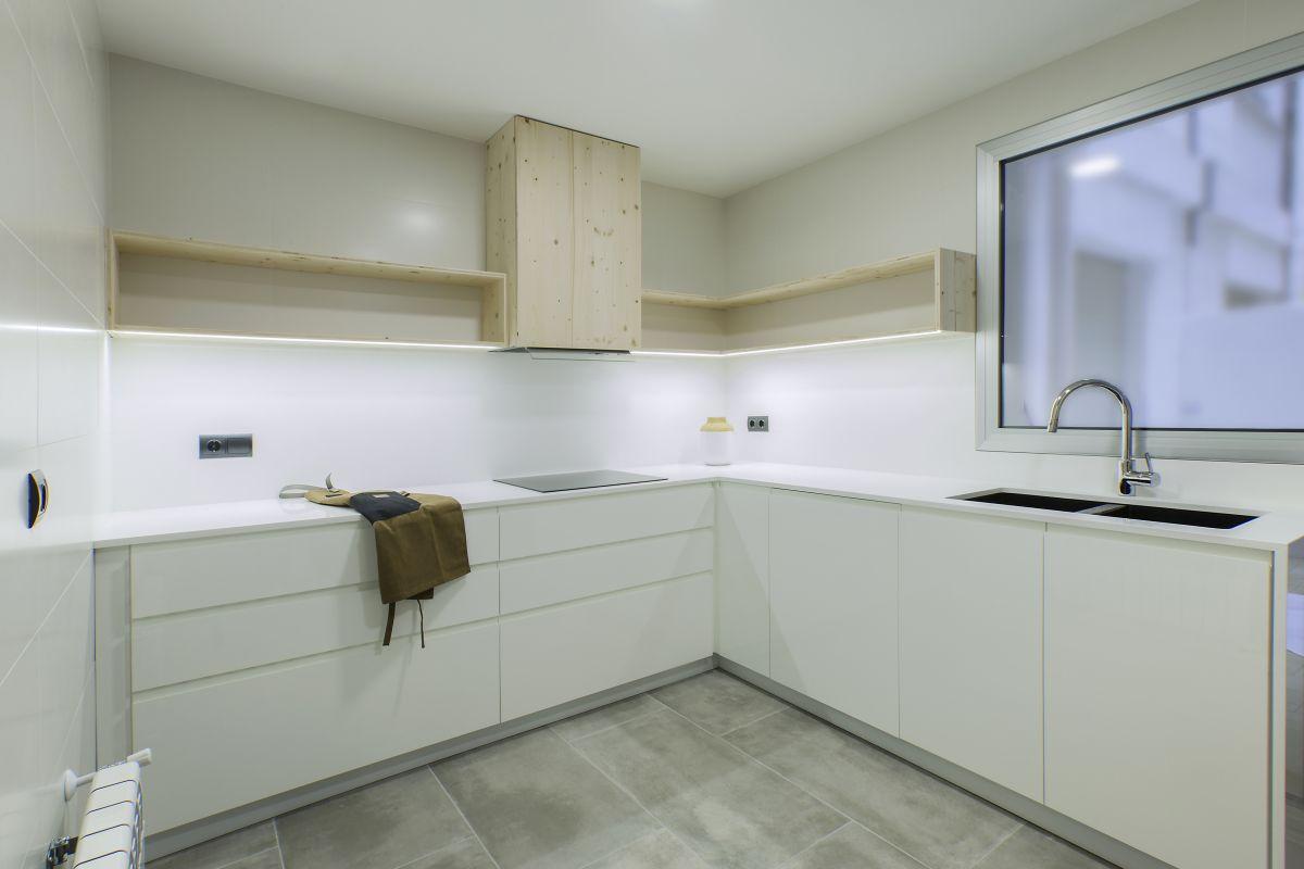 cuina, a mida, moble, fusta, disseny, càlid, interiorisme, dissenyador, interiorista