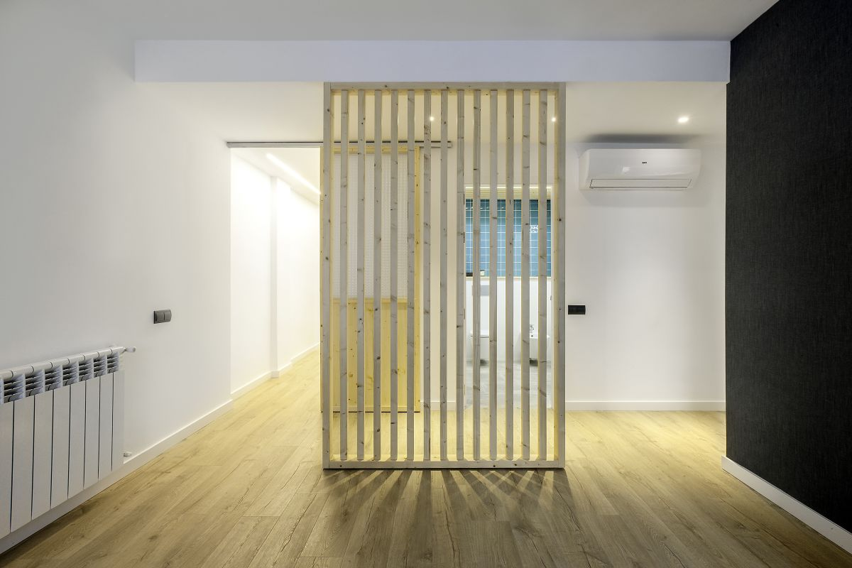 menjador, separador, fusta, disseny, càlid, interiorisme, dissenyador, interiorista